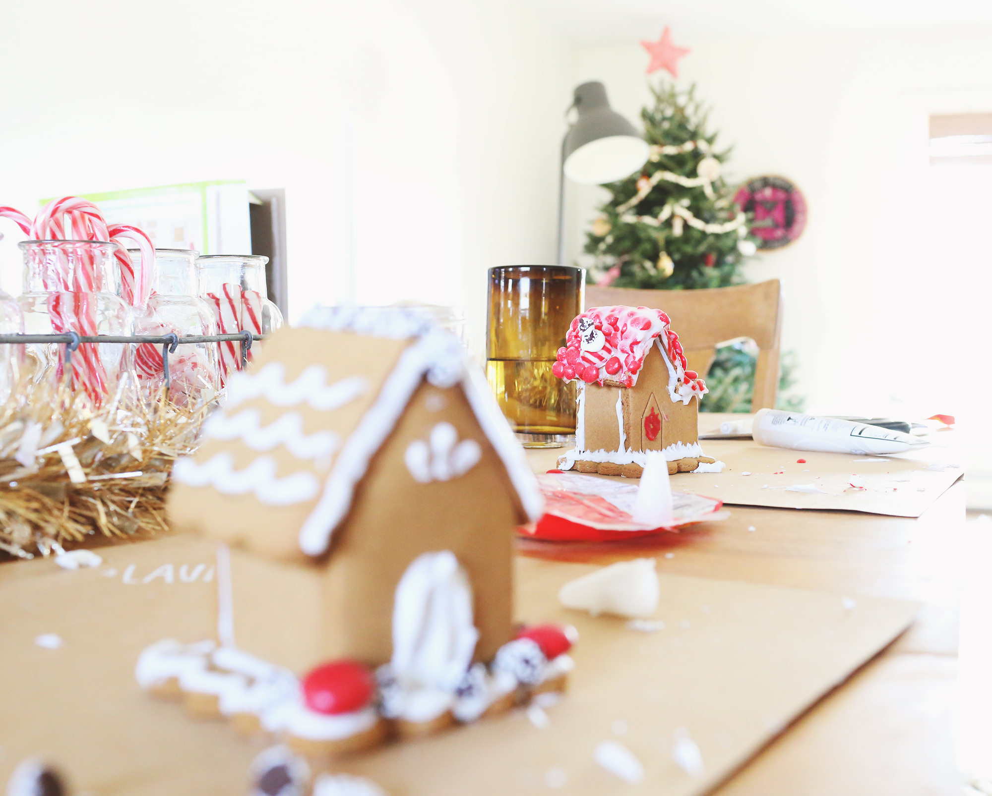 Host your friends for a gingerbread house party! Three helpful tips on Lily & Val Living