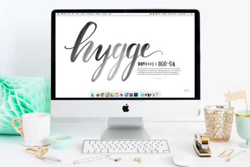 FREE January Desktop & iPhone Wallpaper: The Art of Hygge