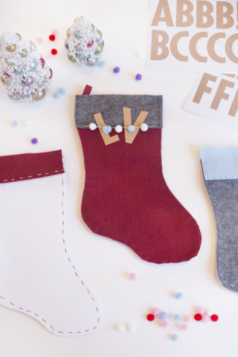 DIY Hand-Stitched Felt Stocking