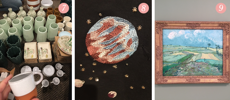 New beautiful items available at Lily & Val flagship store, cross-stitch Jupiter planet sweatshirt, Vincent Van Gogh painting at Carnegie Museum of Art