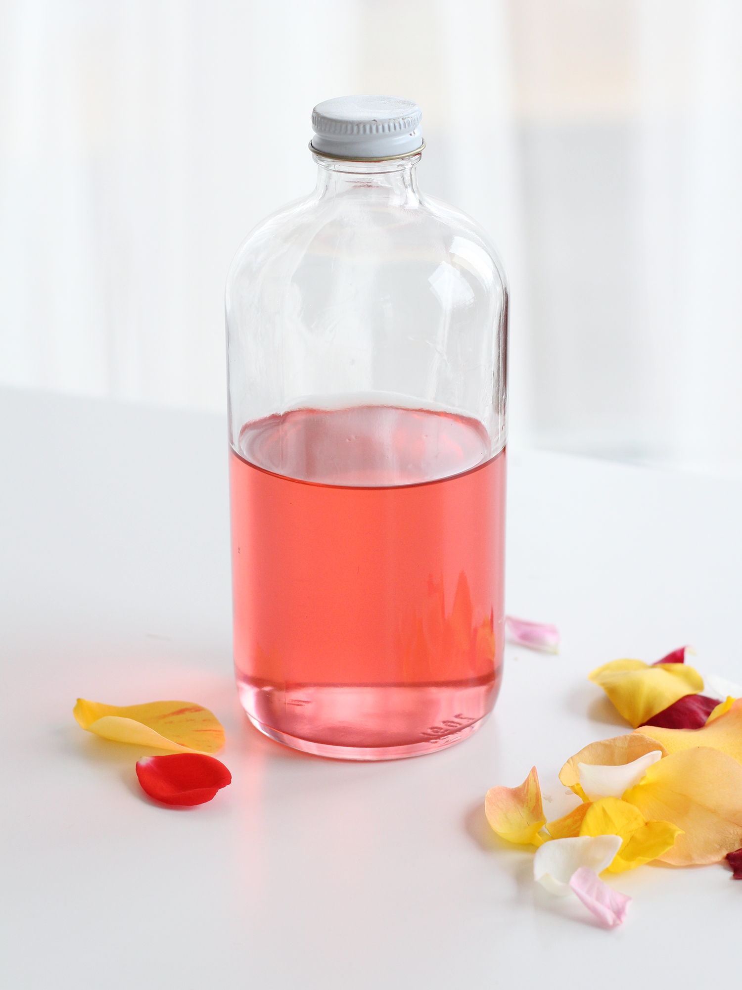 How to make homemade rose simple syrup on Lily & Val Living