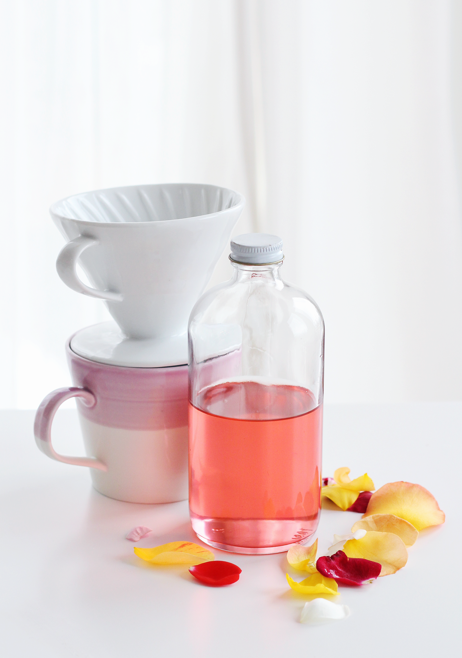 Homemade Rose Simple Syrup is easy to make and it looks pretty too