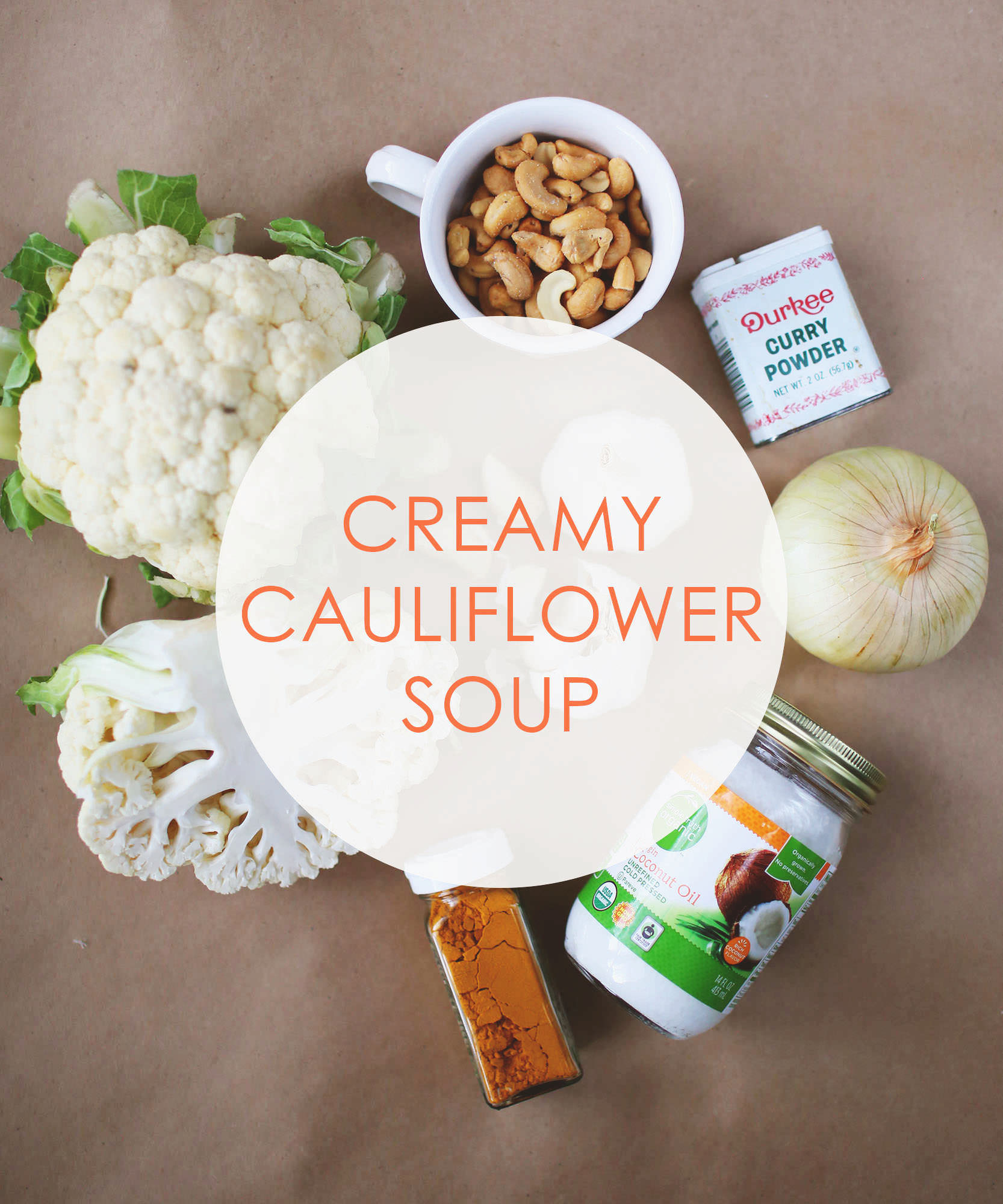 Creamy cauliflower soup for a delicious detox dish. via Lily & Val Living