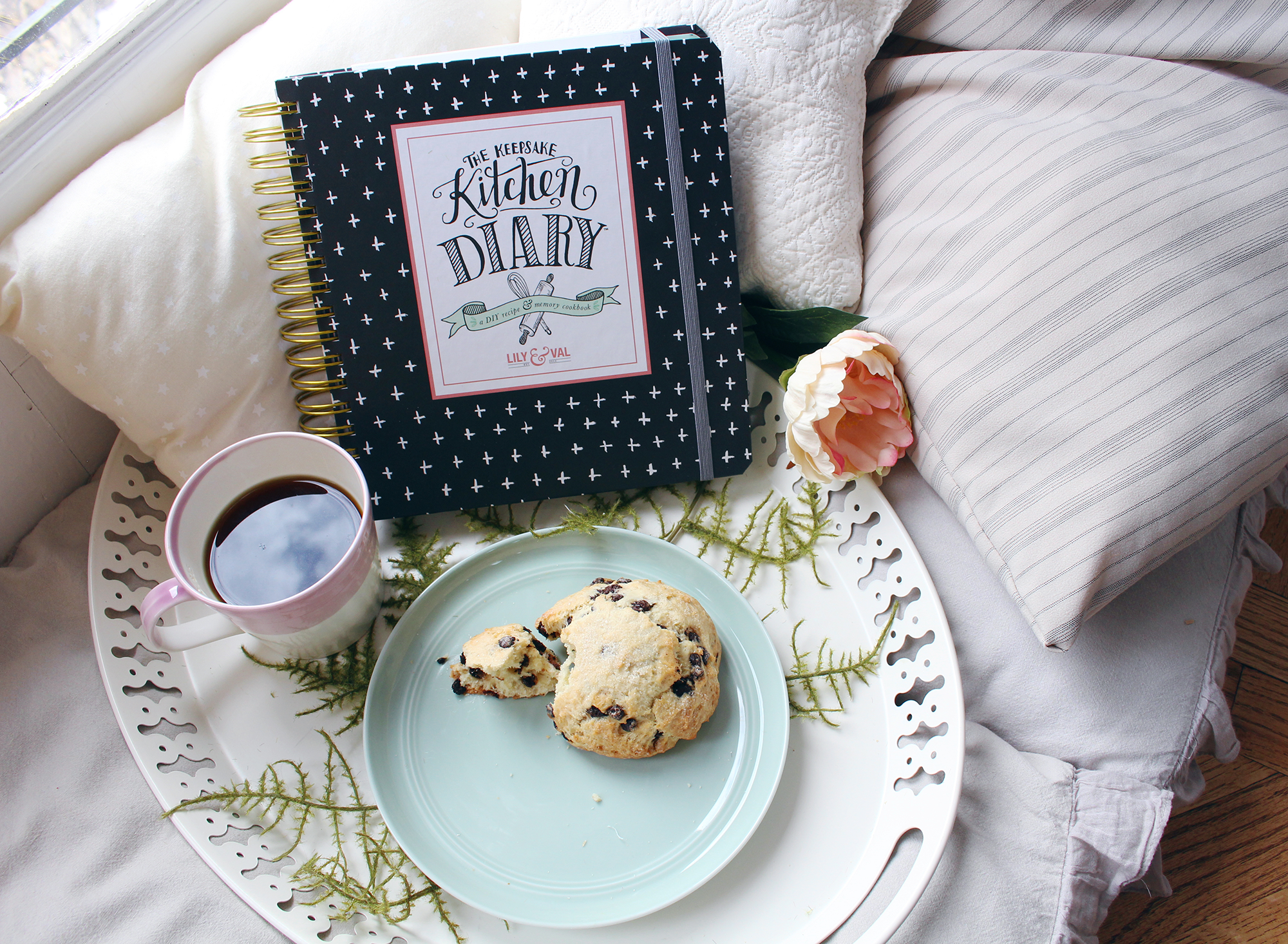 The Keepsake Kitchen Diary is a recipe keeper and journal and makes a perfect gift for a baker or foodie