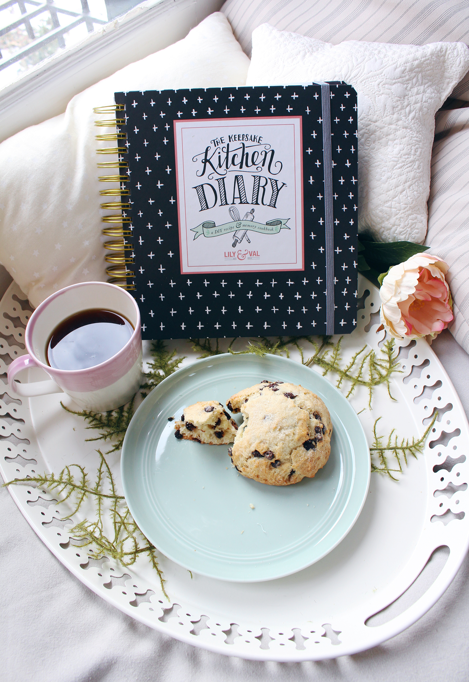 The Keepsake Kitchen Diary is an heirloom recipe keeper and journal with room to record recipes along with the memories that coincide with them
