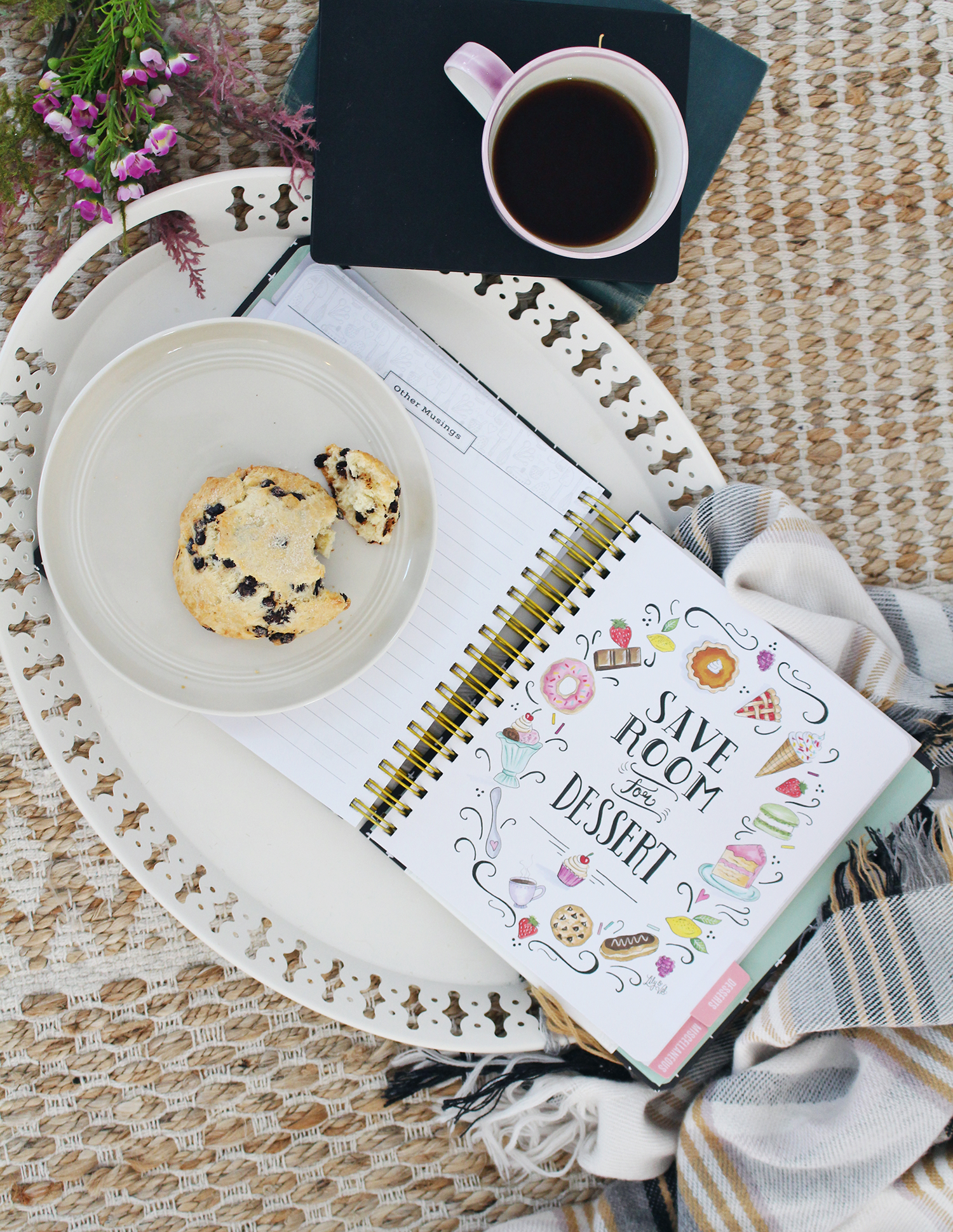 Every tab in the Keepsake Kitchen Diary features a hand-drawn illustration by Valerie McKeehan