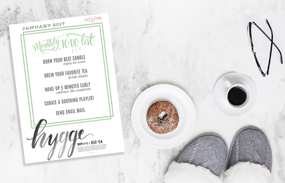 Free download for living hygge - keep yourself centered this winter.