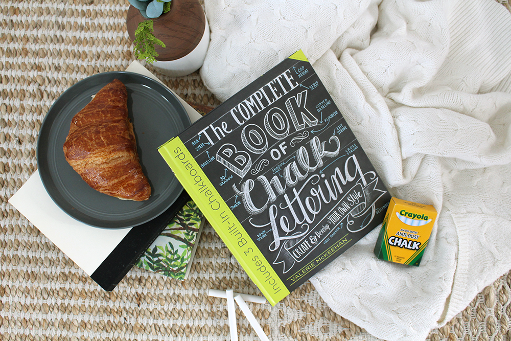 Starting a new hobby - Chalk Lettering! Grab the best-selling book from the original pro, Valerie McKeehan!