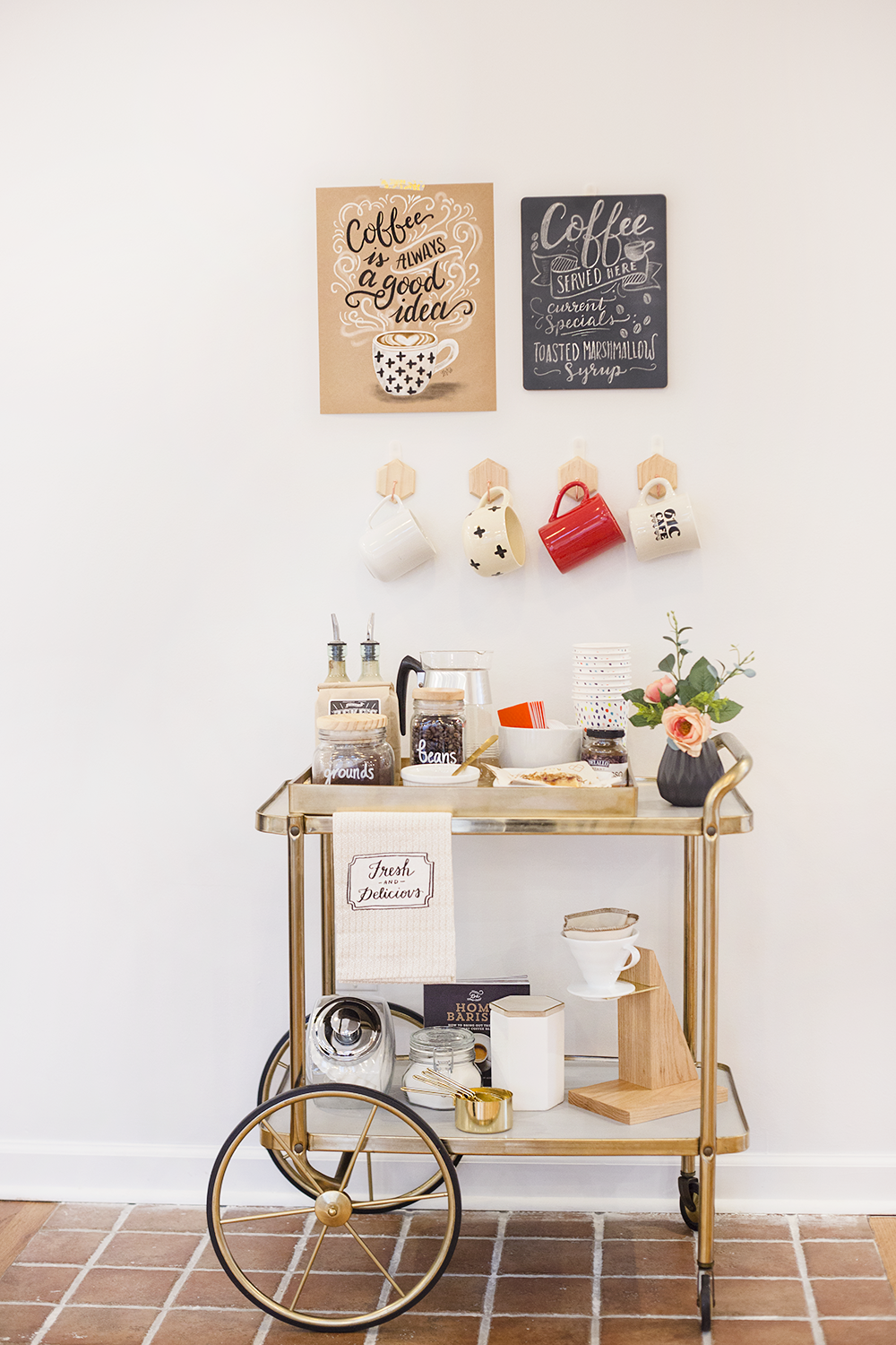 How to make a coffee bar | DIY coffee bar | DIY coffee cart