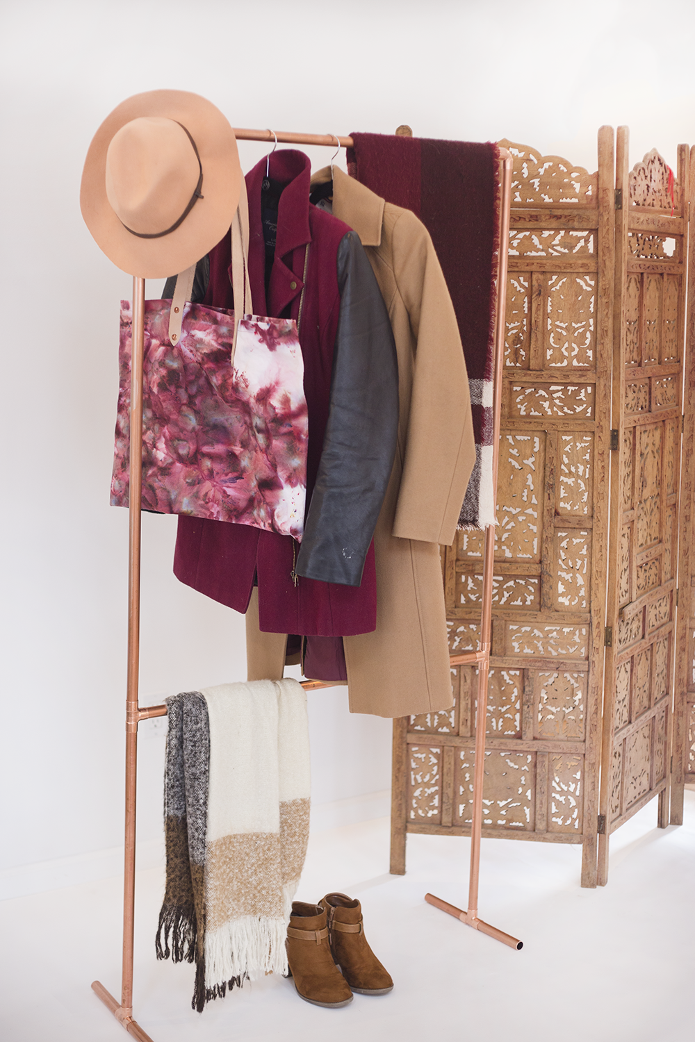 Make Your Own Diy Copper Garment Rack Lily Val Living