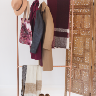 Make Your Own DIY Copper Garment Rack