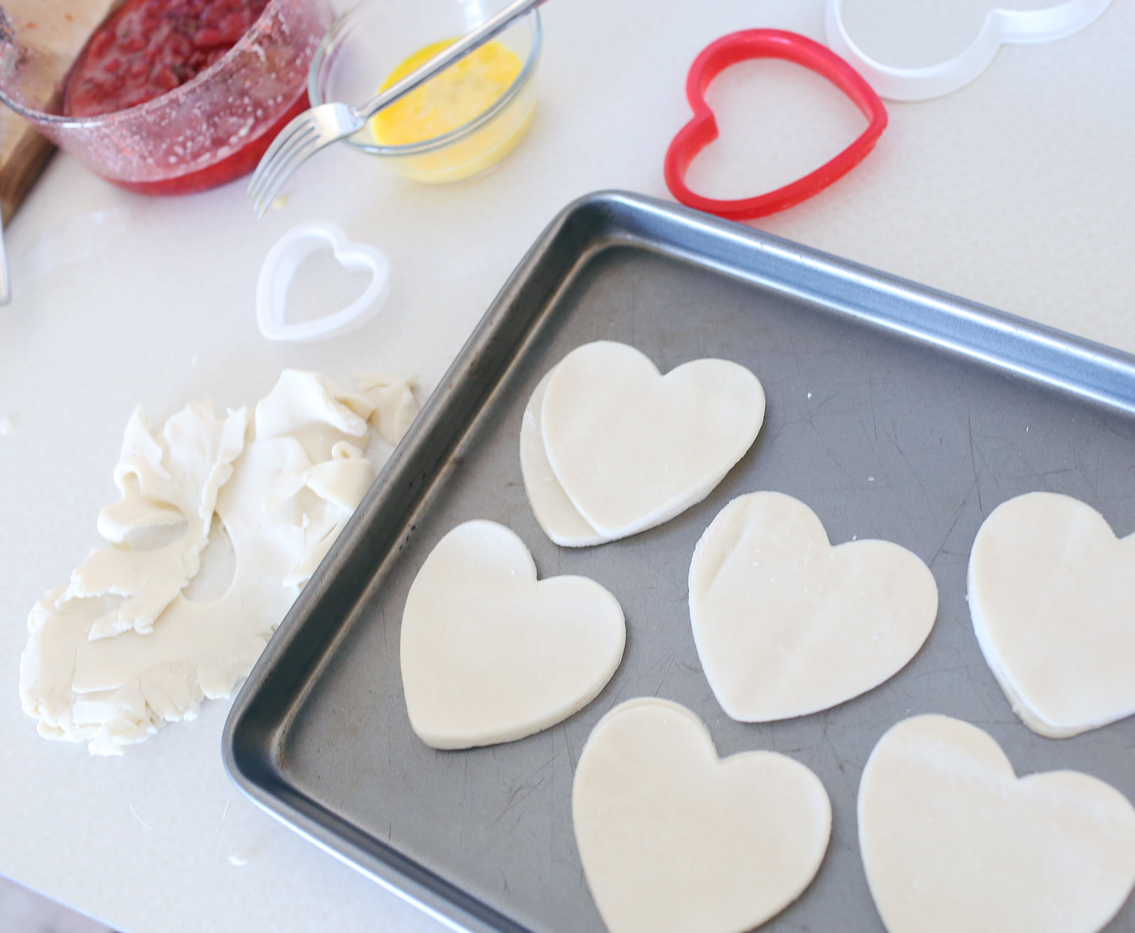 Mini Heart-shaped Hand Pies on Lily & Val Living