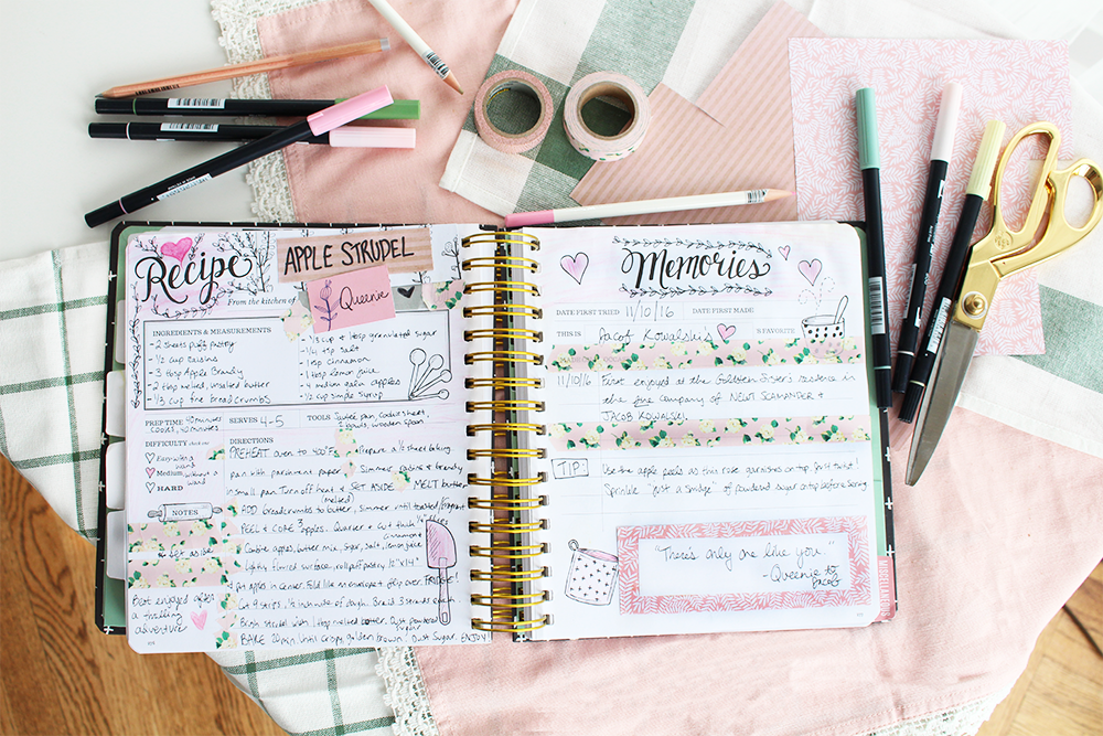 The Keepsake Kitchen Diary | recipe book | DIY cookbook | scrapbooking memories