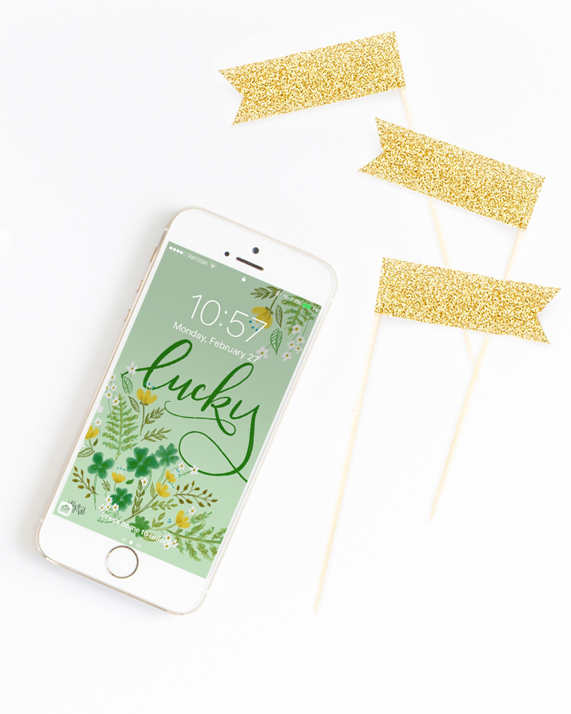 March free download - iphone wallpaper, hand lettered and drawn by Valerie McKeehan