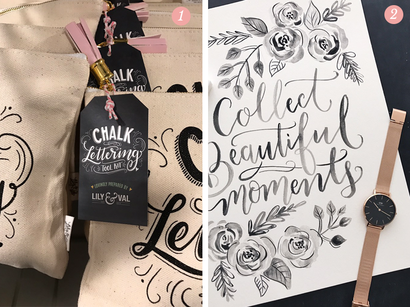 Lily & Val Pretty Ordinary Blog #44 presents the Chalk Lettering Tool Kits and a hand lettered inspirational saying with a Daniel Wellington watch