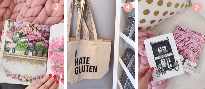"L&V Behind the Scenes blog shows off ""Spring in Paris"" book by Georgianna Lane, I hate gluten canvas tote bags by The Oyster's Pearl, Lily and Val's new spring line prints"