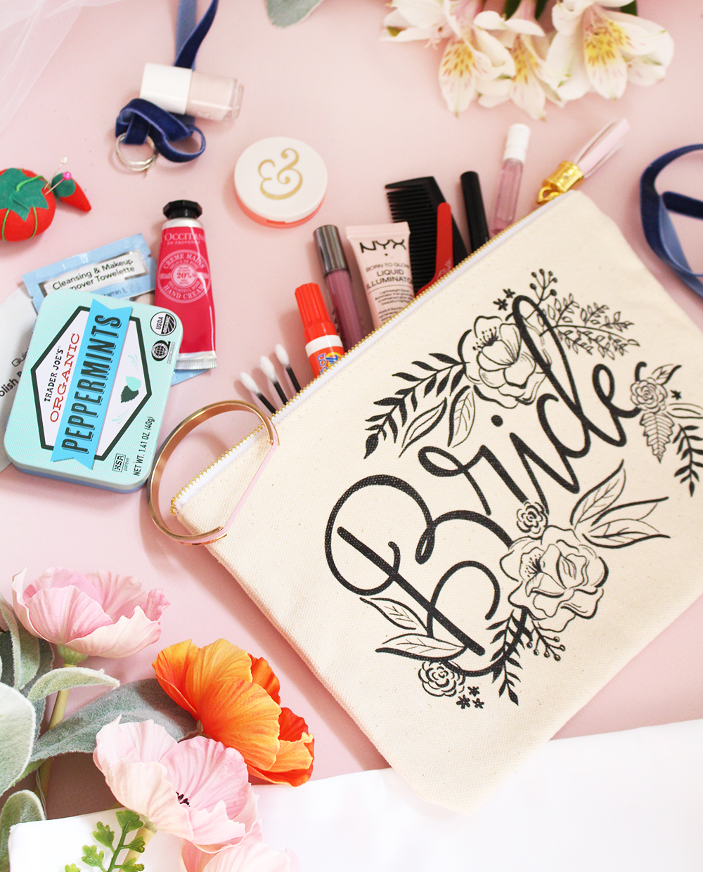 bridal gift emergency kit for the big day