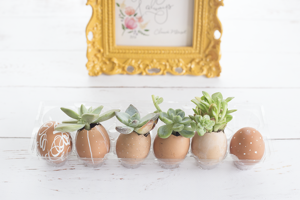 modern easter decor | diy easter decor | easter egg planters