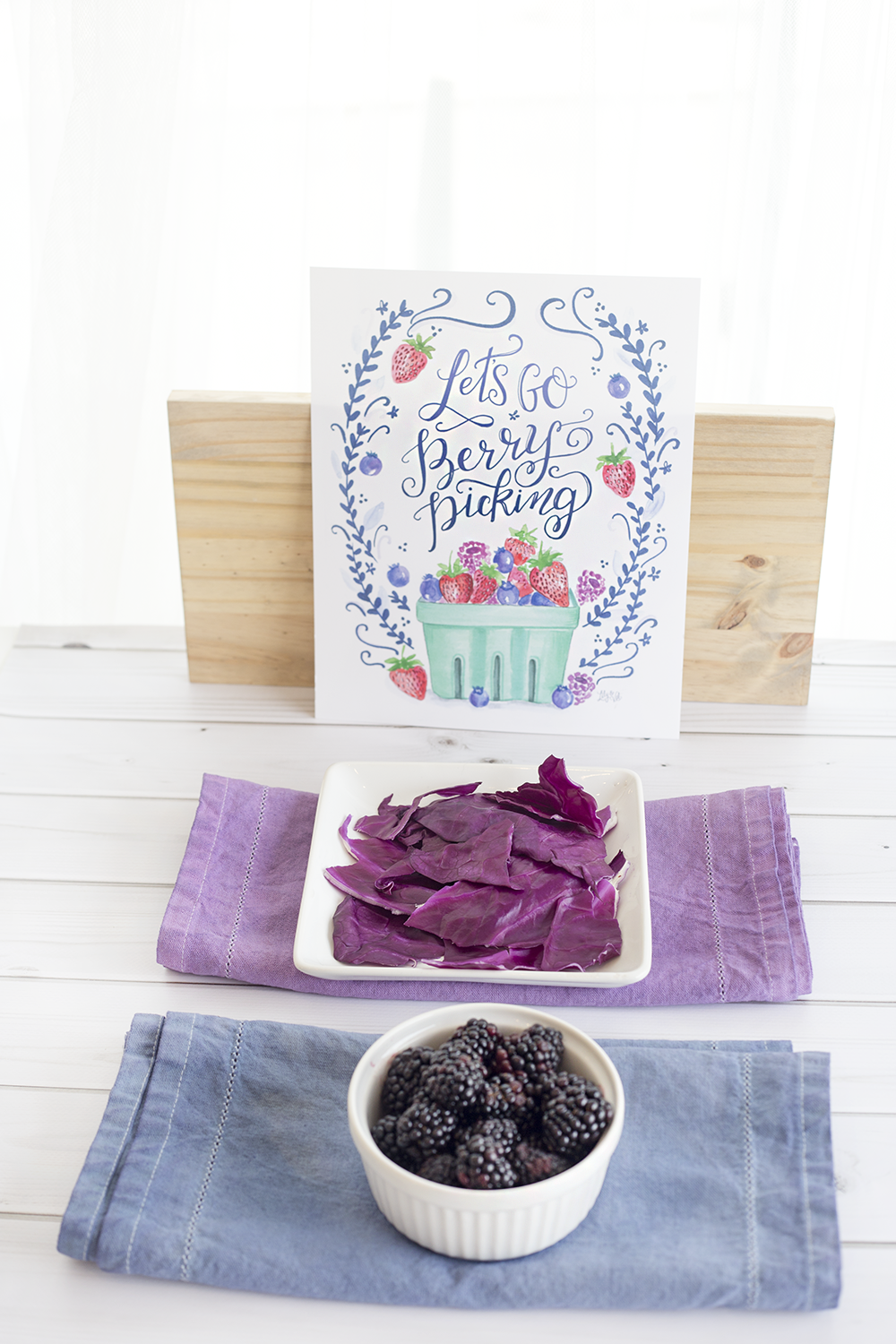 natural dyes DIY | table runner DIY | using natural dyes