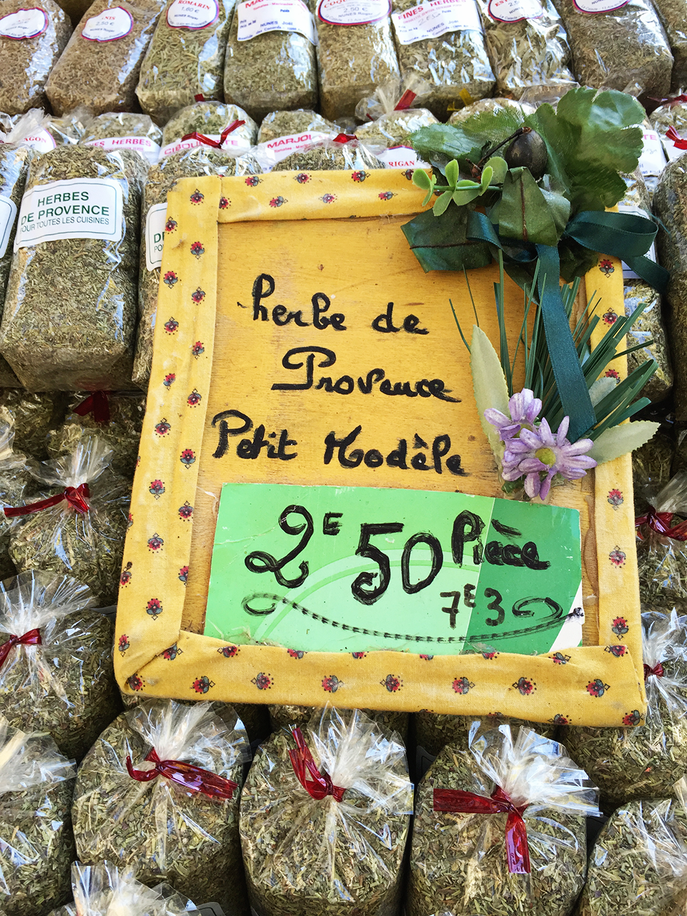 Herbs de Provence at a Farmers Market in France