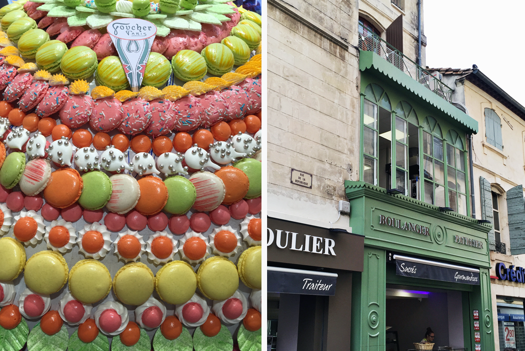 The macarons and sweets found at Boulangeries and Patisseries in Paris and Provence inspired Lily & Val's 2017 Spring in Provence Print Collection