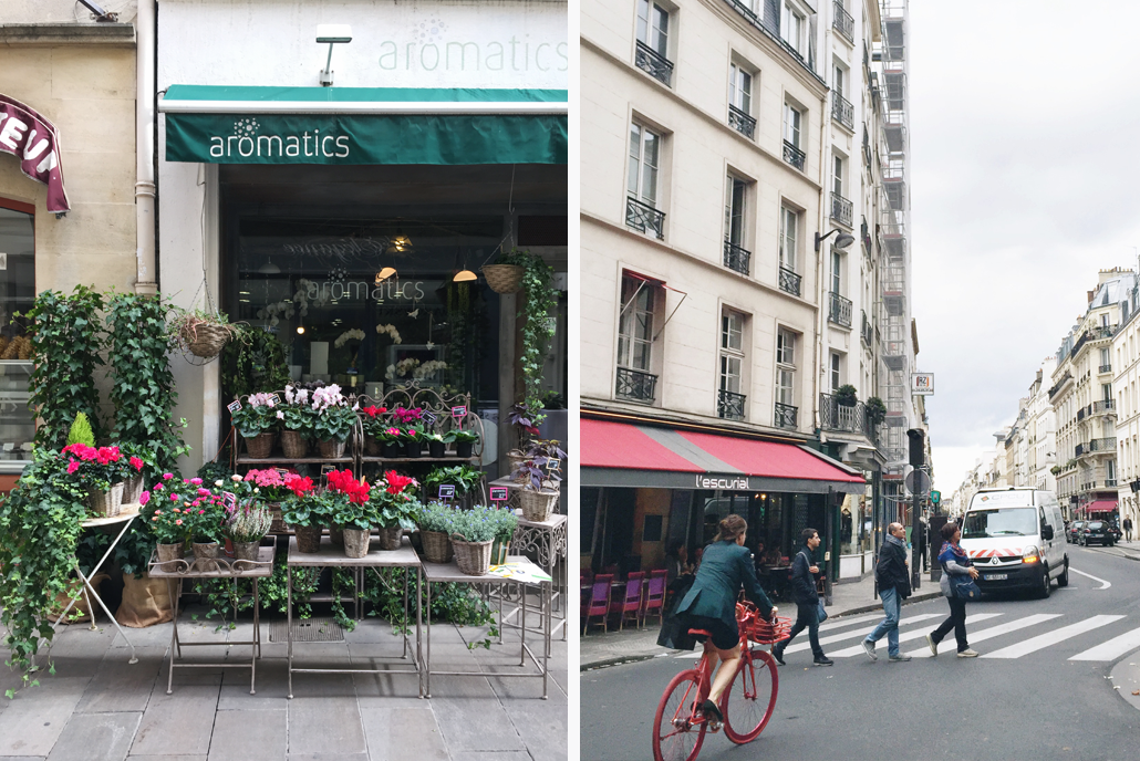 The flower shops and buildings lining the streets of Paris and Provence inspired the Spring Print Collection by Lily & Val