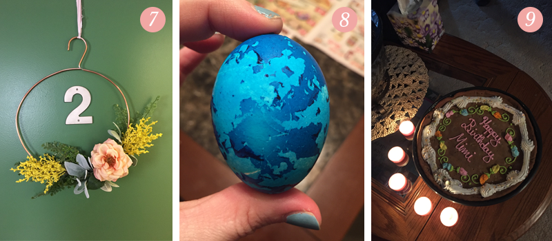 Lily & Val Presents: Pretty Ordinary Friday #47 posts about Faux flower workshop at Lily and Val, easter eggs, birthday cakes