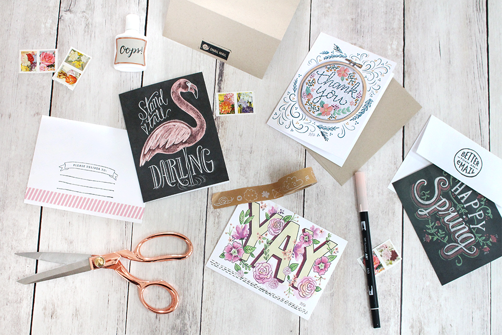 Snail Mail Inspiration | Hand-drawn cards by Valerie McKeehan | Envelope Decorating