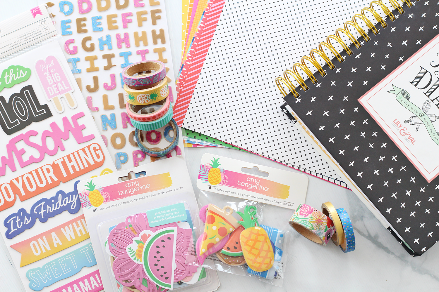 Crafting The Keepsake Kitchen Diary With Amy Tangerine Scrapbook Supplies