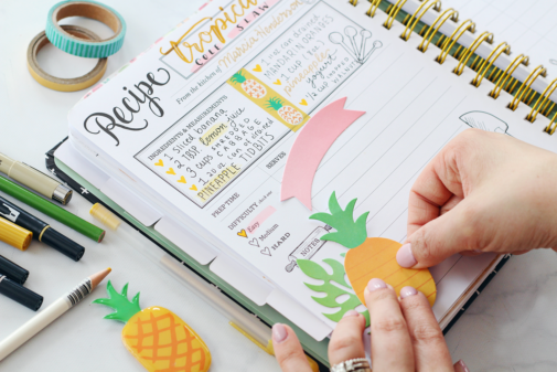 Crafting The Keepsake Kitchen Diary With Amy Tangerine Scrapbook and Planner Supplies