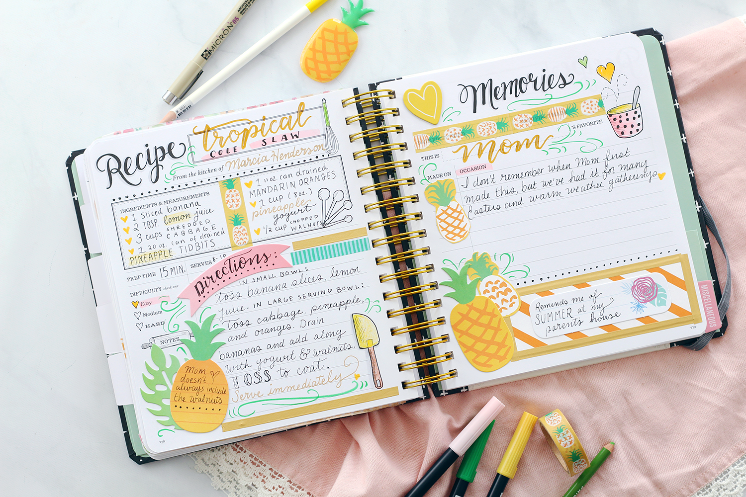 A DIY cookbook, recipe keeper, and journal by Lily & Val: The Keepsake Kitchen Diary