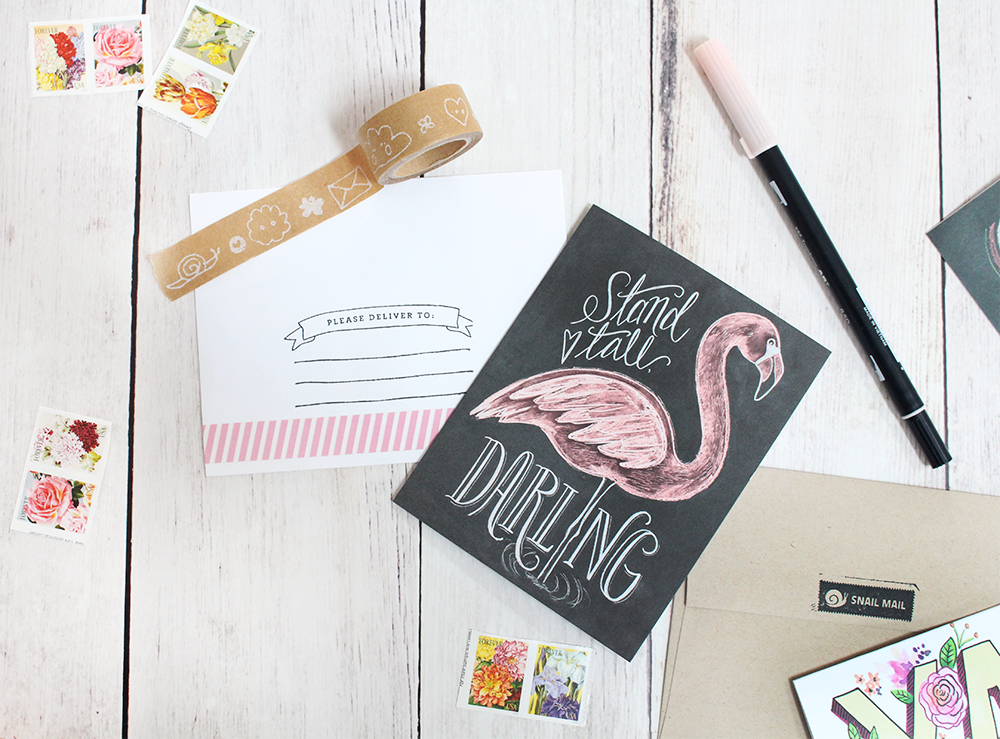 Beautiful snail mail inspiration | decorating envelopes and cards