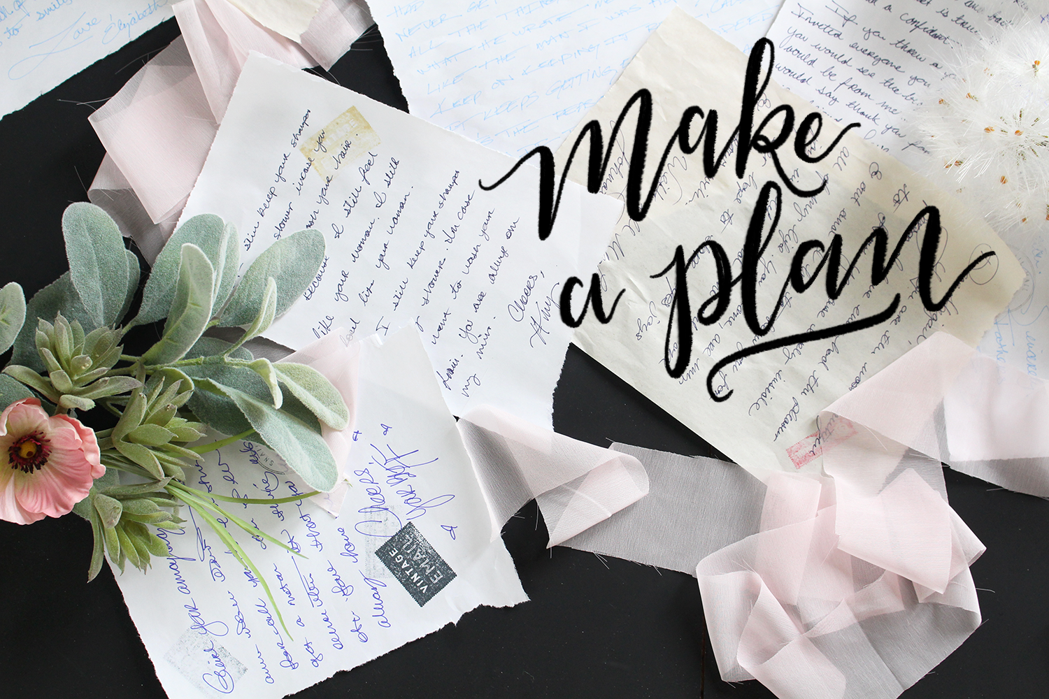 Tip 1: for sending more letters and snail mail- Make a plan