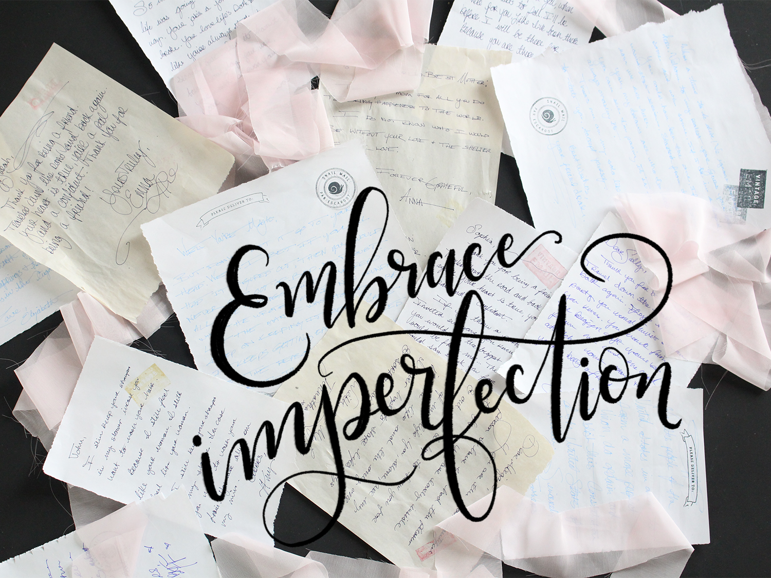 Our philosophy at Lily & Val especially when it comes to sending letters: Embrace Imperfection