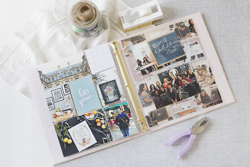 minimal memory keeper | minimal scrapbook | project life ideas