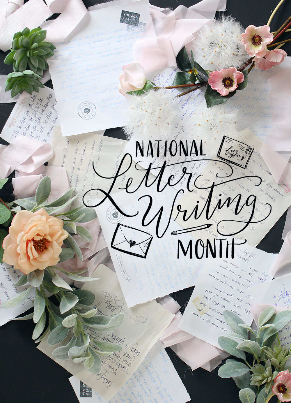 April is National Letter Writing Month and we are celebrating with 3 tips for writing more letters!