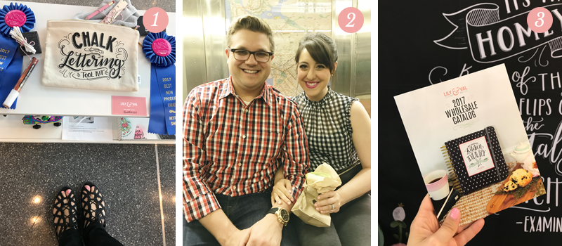 Lily & Val Presents: Pretty Ordinary Friday #53 - NYC Edition shares Chalk Lettering Tool Kit award at National Stationery Show, Mak and Val in a subway in New York City, 2017 Lily & Val Wholesale Catalog