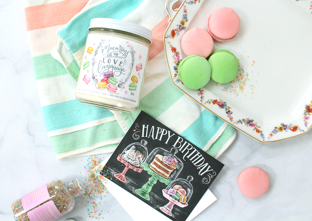 Birthday Idea Macaron Themed Gift Snail Mail Inspiration May Happy Fun