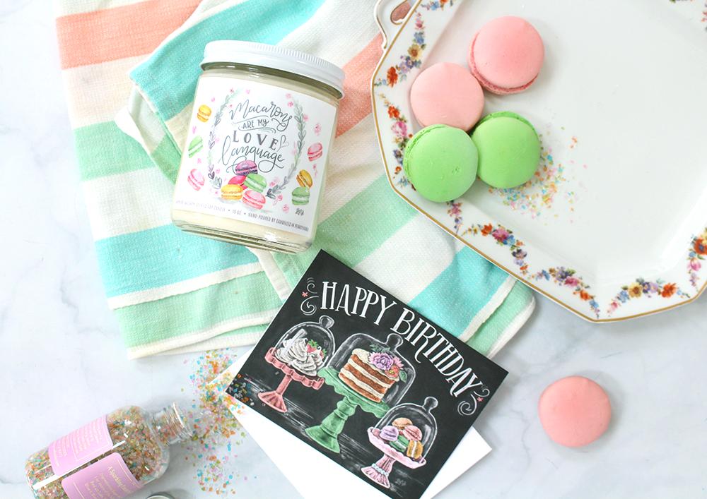 Birthday idea | Macaron-themed gift idea | Snail mail inspiration