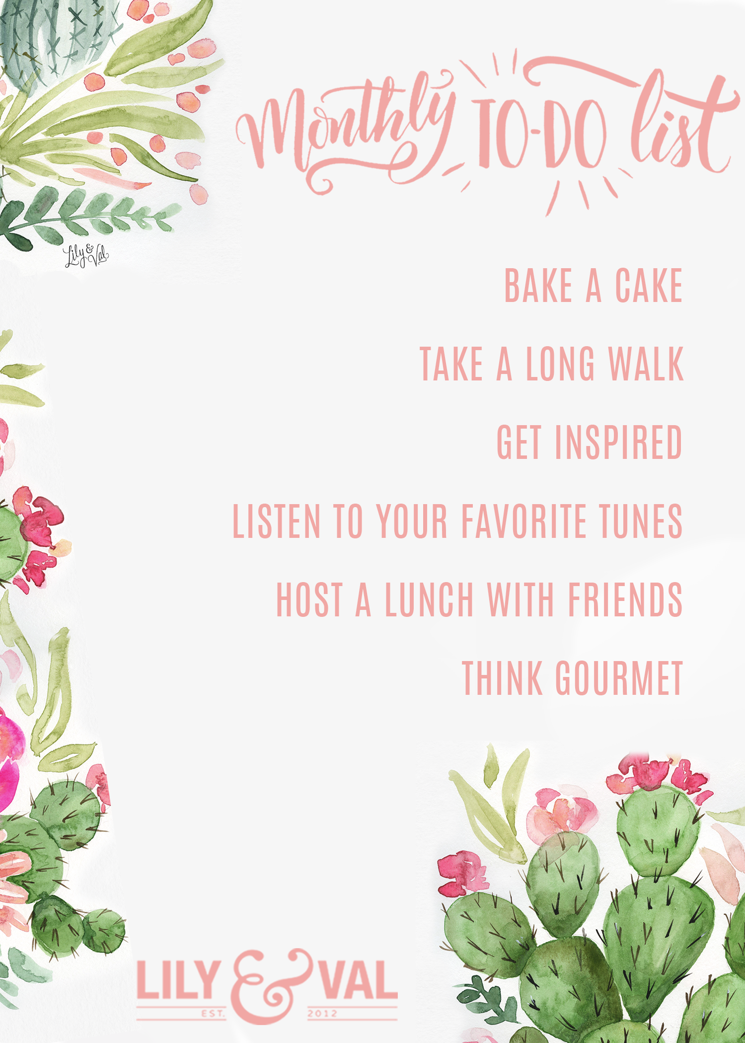 May Free Download - A Very Hygge Monthly To-Do List