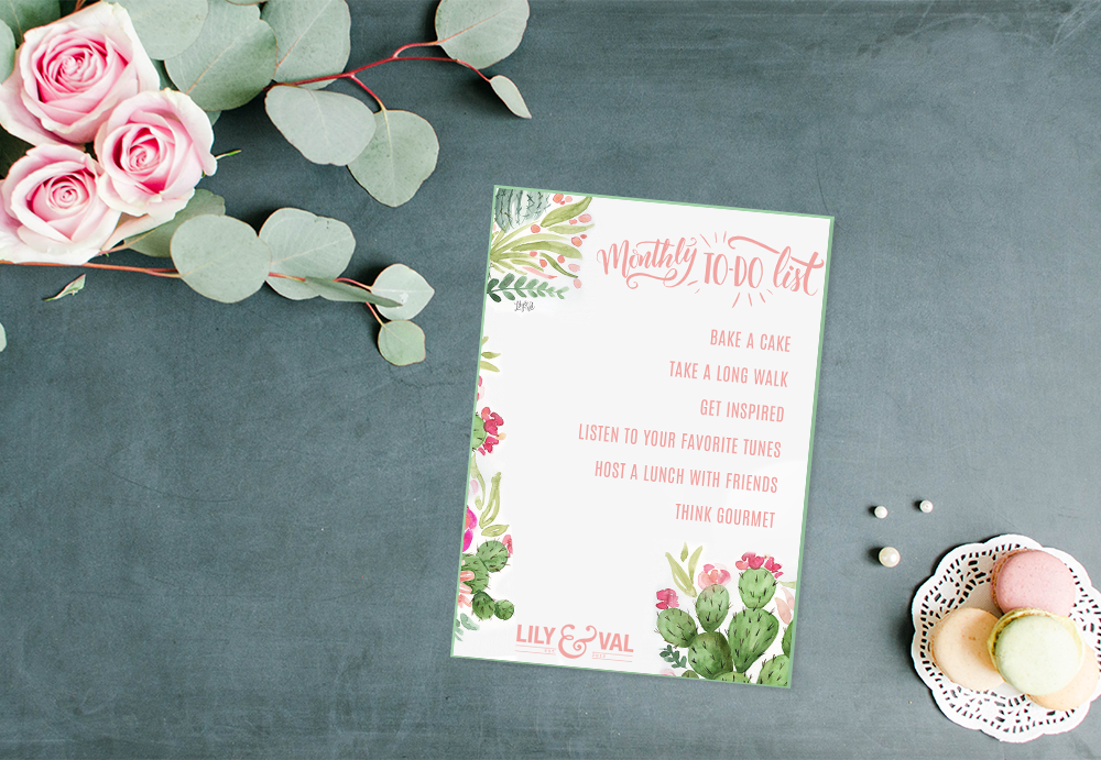 Free Download - Inspired Monthly To-Do List for May