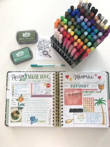 How Amy Tangerine Scrapbooks Her Keepsake Kitchen Diary