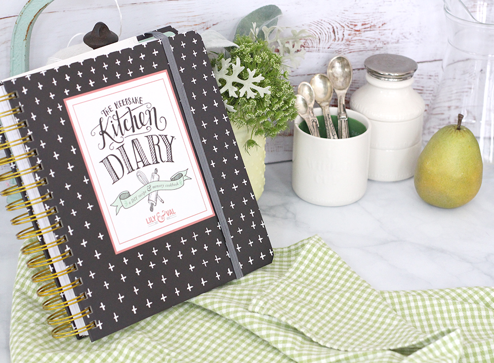 The Keepsake Kitchen Diary is an heirloom gift to keep your family recipes and memories in tact.