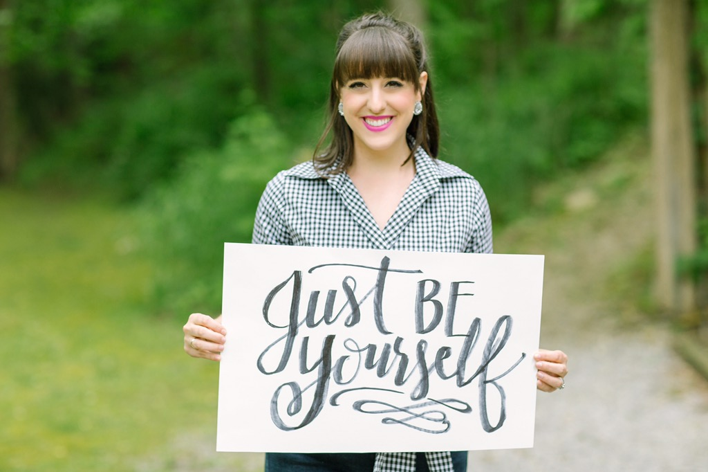 Just be yourself - advice I'd give myself at the beginning of my business and advice I need to hear now