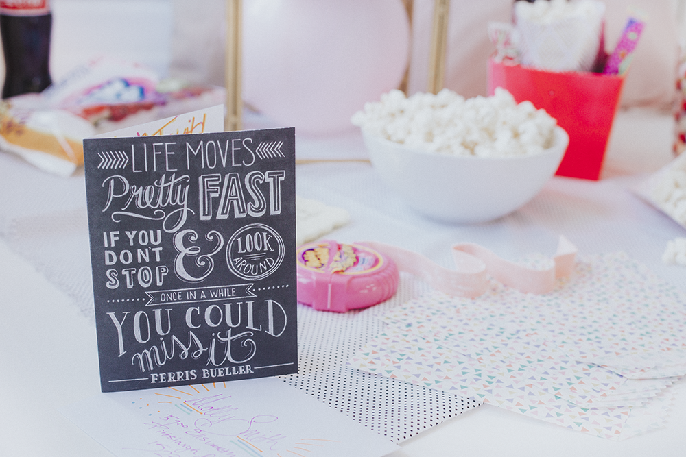 80s movie night | how to throw a movie night | ferris bueller