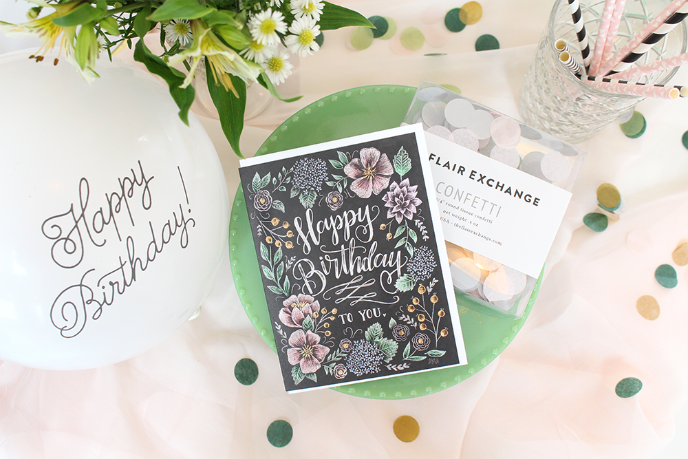 Happy Birthday snail mail idea - send a party in a box to your faraway friend with Lily & Val!