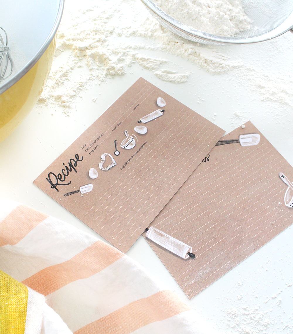 Using recipes to connect with family | 7 inspired ways to use recipe cards in a meaningful way | Lily & Val hand-drawn recipe cards
