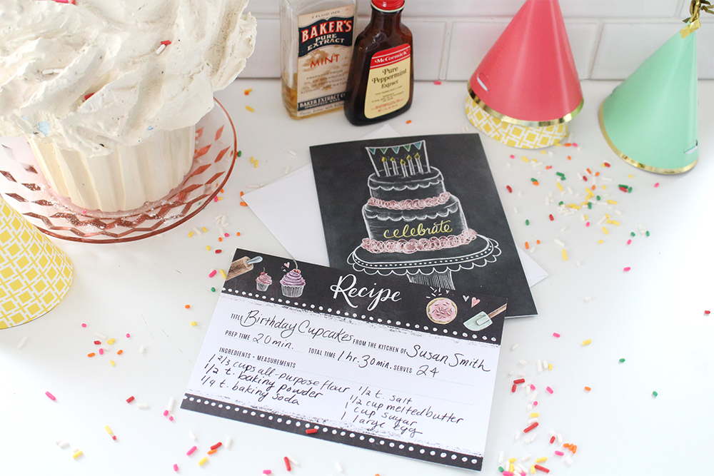 7 Fun Ways to Use Recipe Cards | hand-drawn recipe cards with ideas and inspiration for using them and bringing a smile to someone's day. | hand-drawn chalk art
