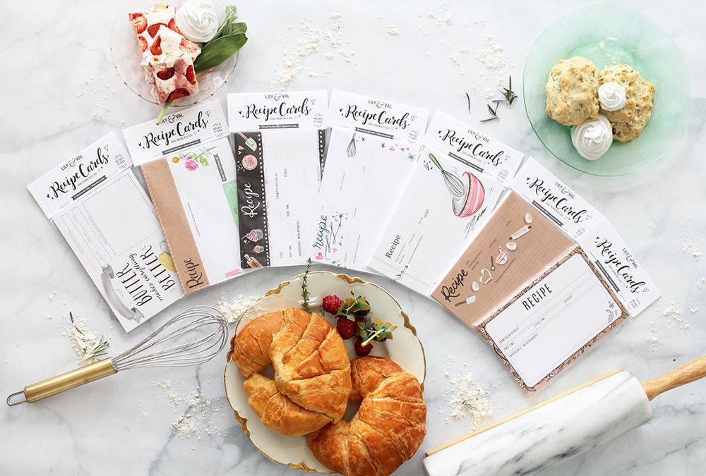 7 Inspired Ways to Use Recipe Cards - Spread the love and connect with a shared recipe. Lily & Val new designs!
