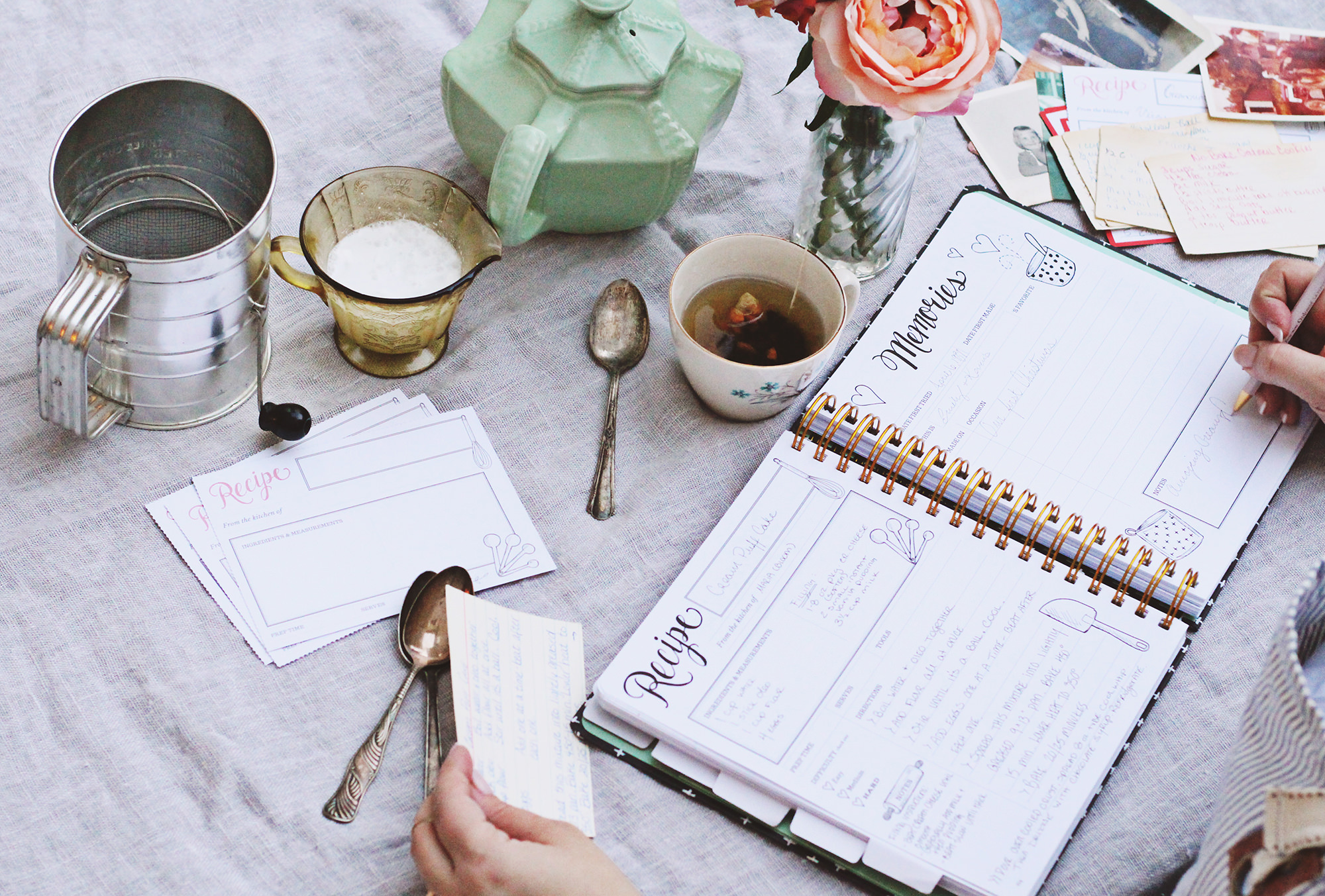 The Keepsake Kitchen Diary is a DIY recipe and Memory Keeper by Lily & Val.